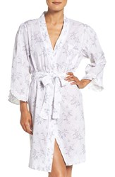 Eileen West Women's Print Cotton Robe