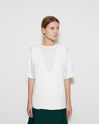 Marni V Neck Shell Lily White