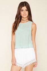 Forever 21 Embroidered Gauze Blouse
