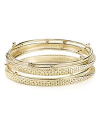 Kendra Scott Tatum Bangles Set Of 5 Gold Metal