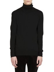 Balmain Long Sleeve Turtleneck Sweater Black