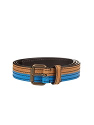 Tomas Maier Bi Colour Leather Belt