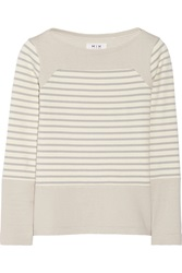 Mih Jeans The Breton Saddle Striped Cotton Top