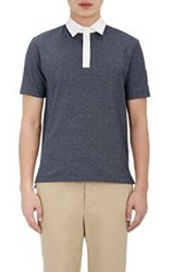 Moncler Gamme Bleu Men's Birdseye Polo Shirt Blue