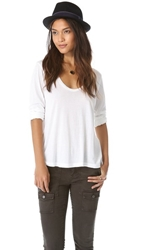 Splendid Very Light Jersey Scoop Neck Tee White