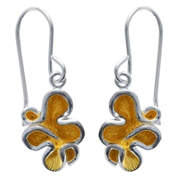 Nina B Sterling Silver Squiggle Drop Earrings Silver Gold