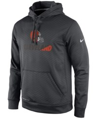 Nike Men's Cleveland Browns Sideline Ko Fleece Hoodie Anthracite White