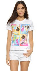Moschino Printed Cover Up Tee White