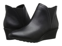 Hush Puppies Electra Rowley Black Leather Women's Wedge Shoes
