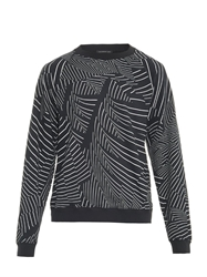 Christopher Kane Abstract Stripe Cotton Jersey Sweatshirt