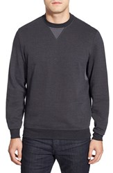 Men's Bugatchi Long Sleeve Knit Sweatshirt Charcoal