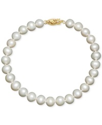 Honora Cultured Freshwater Pearl Bracelet In 14K Gold 6 7Mm