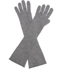 Cash Ca Long Cashmere Gloves Fog