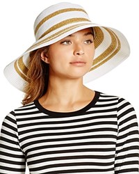 Gottex Kismet Floppy Hat White Gold