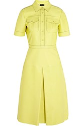 Gucci Leather Dress Bright Yellow
