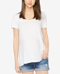 A Pea In The Pod Maternity High Low Tee White