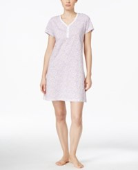 Charter Club Henley Sleepshirt Only At Macy's Purple Floral