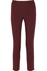 Raoul Cotton Blend Skinny Pants Red