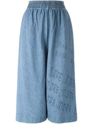 Bernhard Willhelm 'Keep It Unreal' Culotte Pants Blue