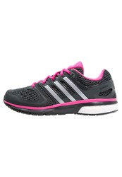 Adidas Performance Questar Cushioned Running Shoes Core Black Silver Metallic Shock Pink