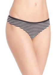 Fleur Du Mal Lace Back Bikini Bottom Black White