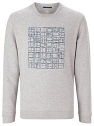 John Lewis Kin By Embroidered Front Sweatshirt Grey