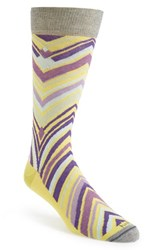 Men's Hook Albert Chevron Socks Green Green Purple