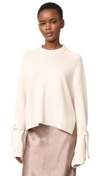 Tibi Silk Back Sweater Burlap