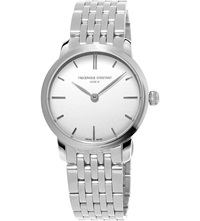 Frederique Constant Fc 200S1s36b3 Slimline Mid Size Stainless Steel Watch White