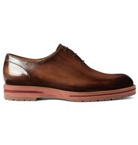 Berluti Alessio Polished Leather Oxford Shoes Brown