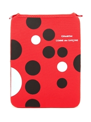 Comme Des Garcons Wallet Polka Dot Ipad Case Red