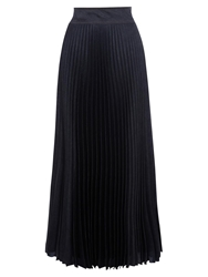 Karen Millen Denim Print Maxi Skirt Dark Blue
