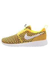 Nike Sportswear Roshe One Flyknit Trainers Volt White Total Orange Black Neon Yellow