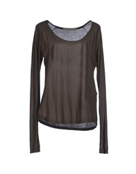 Superfine Topwear T Shirts Women Dark Brown