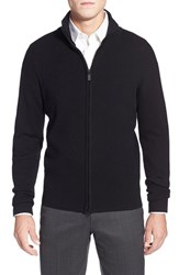 Men's Toscano Ribbed Mock Neck Full Zip Cardigan