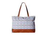Roxy Another Beach Tote Modern Geo Sand Piper Tote Handbags Blue