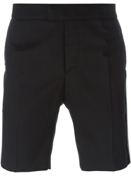 Les Hommes Piped Seam Shorts Black