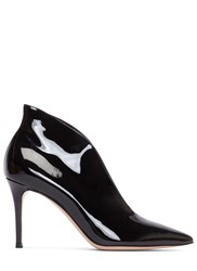 Gianvito Rossi Vania Patent Stiletto Heeled Ankle Boots Black