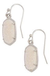 Women's Kendra Scott 'Lee' Small Drop Earrings Iridescent Drusy Silver