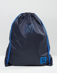 New Balance 410 Gymsack Backpack In Blue Blue