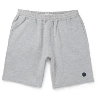 Nn.07 Archie Loopback Stretch Cotton Shorts Gray