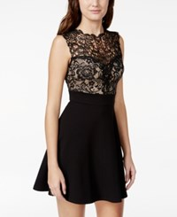 Trixxi Juniors' Crochet Lace Skater Dress