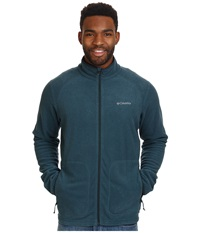 Columbia Hombre Springs Fleece Jacket Everblue Night Shadow Stripe Night Shadow Binding And Zips Men's Coat