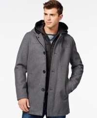 Guess Toggle Jacket With Attached Hood