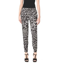 Michael Kors Animal Print Track Pants White