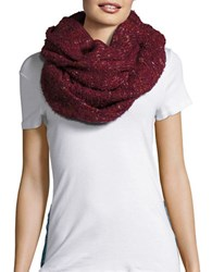 Echo Wool Blend Boucle Infinity Scarf Pomegranat