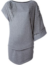 Jay Ahr Asymmetric Shift Dress Grey