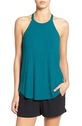 Women's Soprano Ribbed High Neck Tank Lagoon