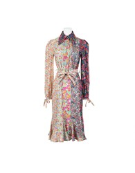 Olympia Le Tan Dr Northern Lights Dress Blue Multi