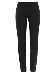 Saint Laurent Skinny Leg Gabardine Trousers Black